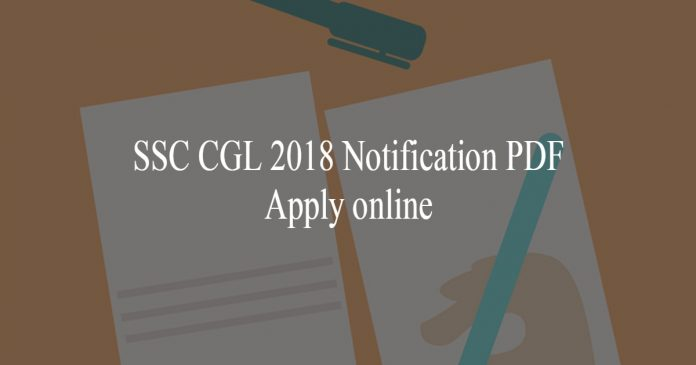 SSC CGL 2018 Notification PDF