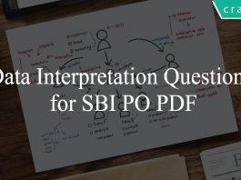 Data Interpretation Questions for SBI PO PDF