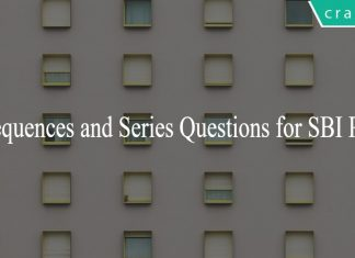 Sequences and Series Questions for SBI PO