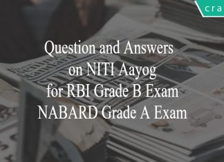 questions on niti aayog for rbi grade b