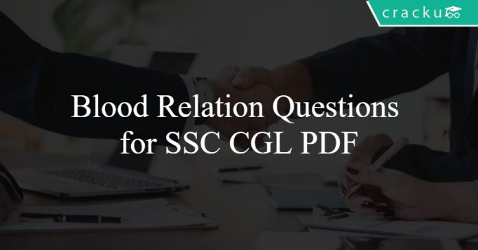 Blood Relation Questions for SSC CGL PDF