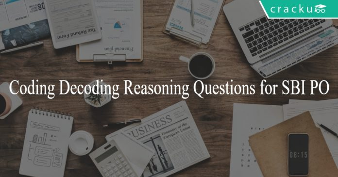 Coding Decoding Reasoning Questions for SBI PO