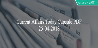 current affairs today 25-04-2018
