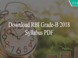 RBI Grade-B 2018 Syllabus PDF