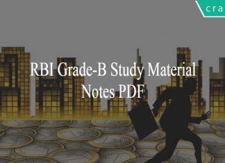 RBI Grade-B Study material PDF