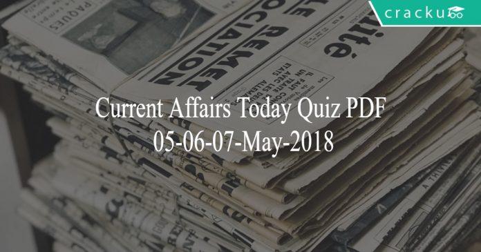 ca today quiz 05-06-07 may 2018