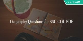 Geography Questions for SSC CGL PDF