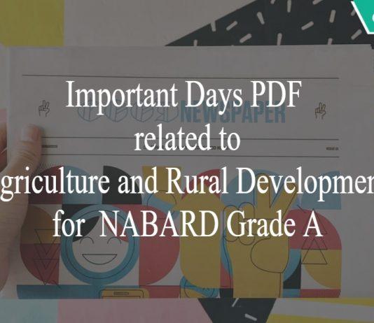 important days pdf