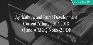 Agriculture and Rural development MCQ Notes 2017-18