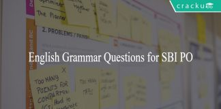 English Grammar Questions for SBI PO