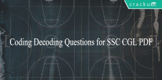 Coding Decoding Questions for SSC CGL PDF