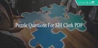 Puzzle Questions For SBI Clerk PDF