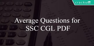 Average Questions for SSC CGL PDF