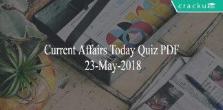 ca today quiz 23-05-2018