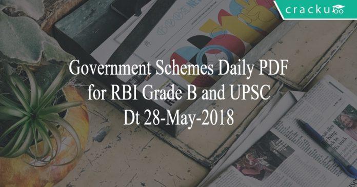 govt schemes daily pdf 28-05-2018
