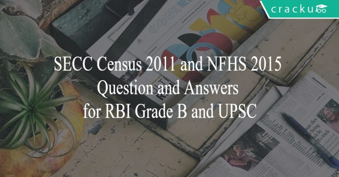 secc census and nfhs 2015