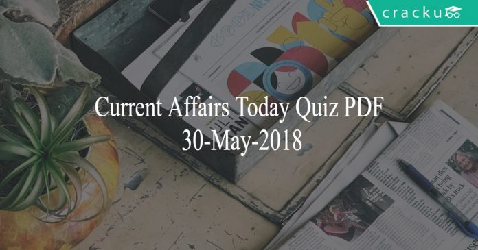 ca today quiz 30-05-2018