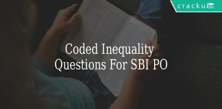 coded inequality questions for sbi po