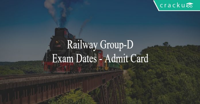 railway group-d exam dates, admit card