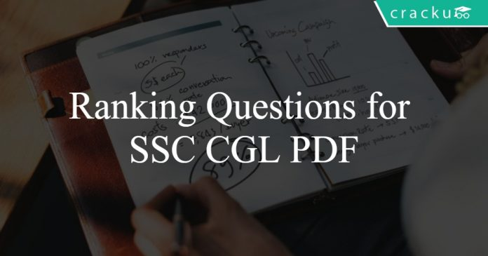 Ranking Questions for SSC CGL PDF
