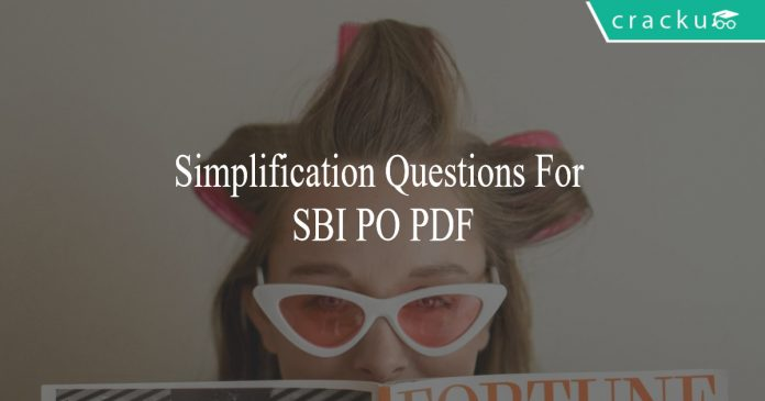 simplification questions for sbi po pdf