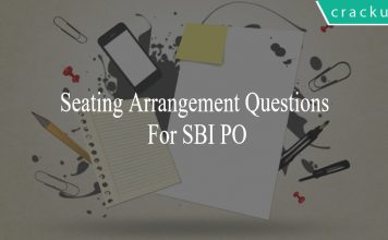 seating arrangement questions for sbi po