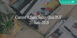 ca today quiz 21-06-2018