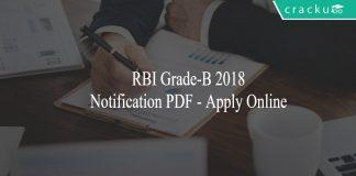 RBI Grade-B 2018 Notification PDF - Apply Online