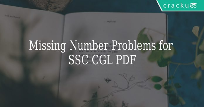 Missing Number Problems for SSC CGL PDF