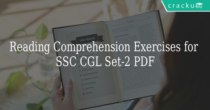 Reading Comprehension Exercises for SSC CGL Set-2 PDF
