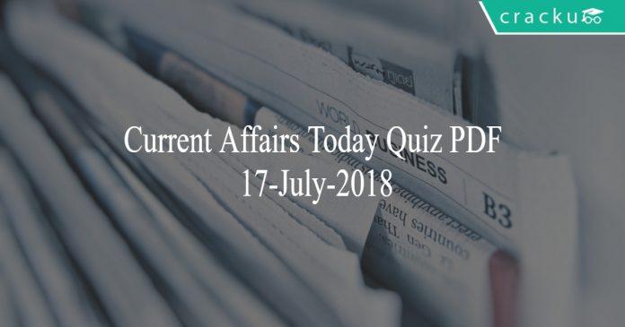 ca today quiz 17-july-2018