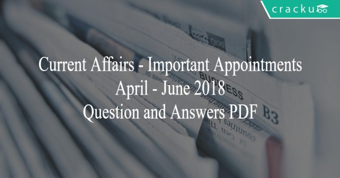 ca - important appointments pdf