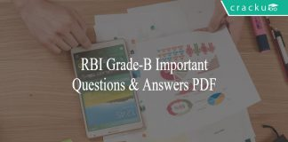 RBI Grade-B Questions and Answers PDF