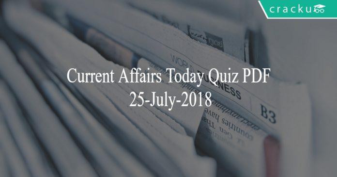 ca today quiz 25-07-2018
