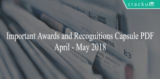 awards and recognitions april-may capsule pdf