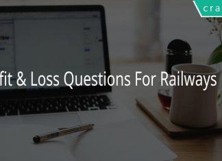 Profit & Loss Questions For Railways PDF