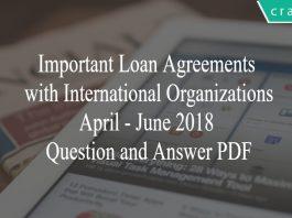 important loan agreements