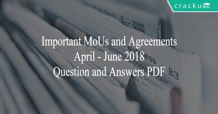 important MoUs and Agreements
