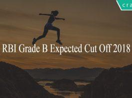 RBI Grade B Expected cut off 2018