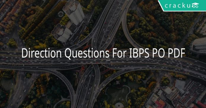 Direction Questions For IBPS PO PDF