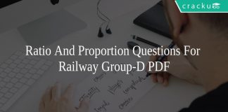 Ratio And Proportion Questions For Railway Group-D PDF