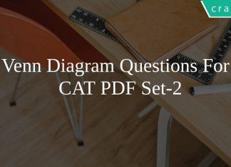 Venn Diagram Questions For CAT PDF Set-2
