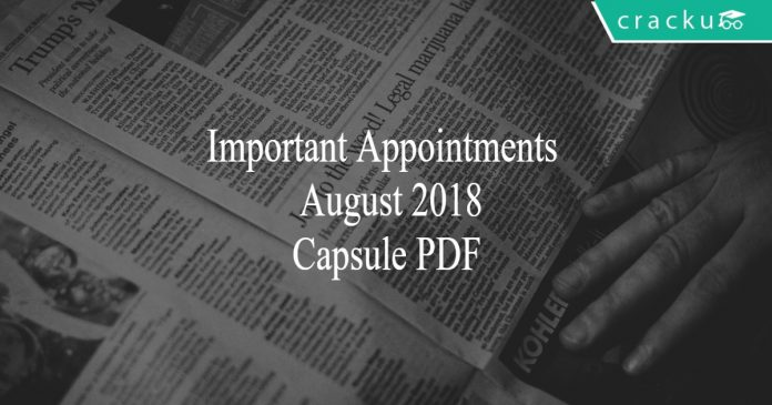 appointments - august 2018