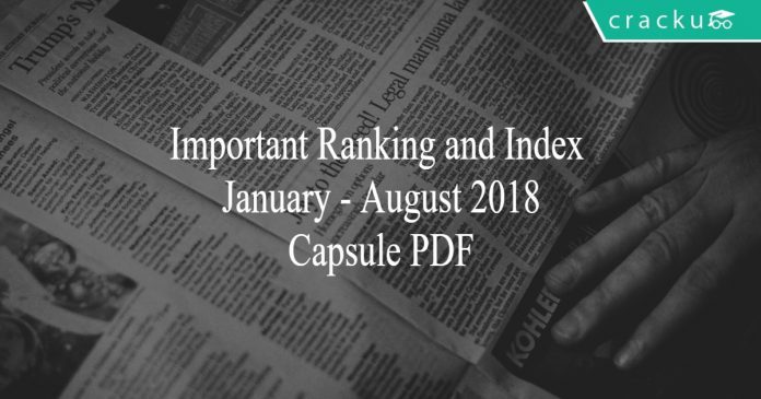 ranking and index 2018
