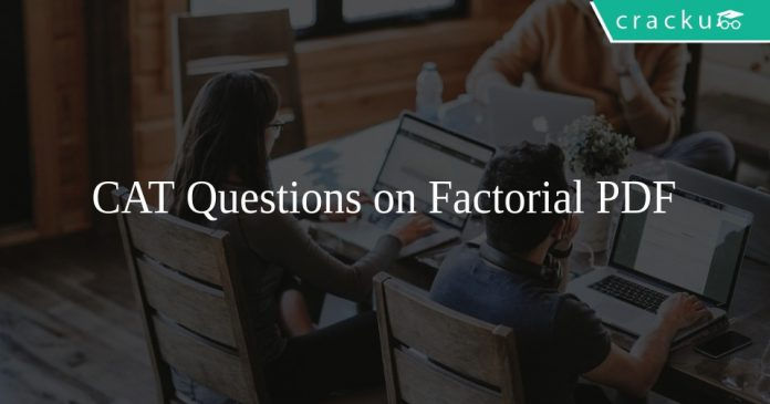 CAT Questions on Factorial PDF