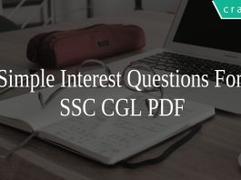Simple Interest Questions For SSC CGL PDF