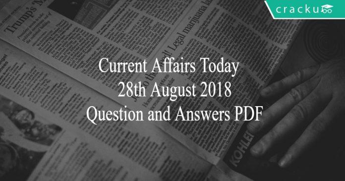 ca today quiz 28-08-2018