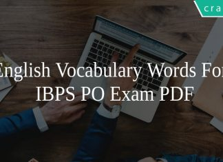 English Vocabulary Words For IBPS PO Exam PDF
