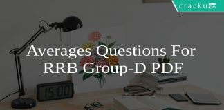 Averages Questions For RRB Group-D PDF