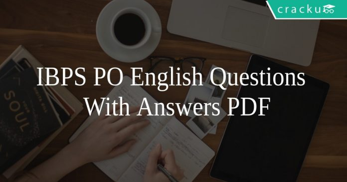 IBPS PO English Questions With Answers PDF